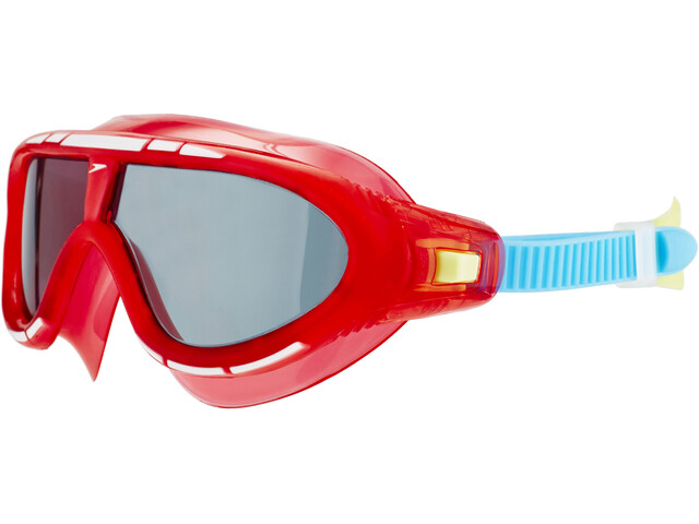 speedo Biofuse Rift Goggles Kinderen, lava red/japan blue/smoke